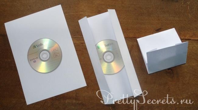 Как сделать конверт для диска