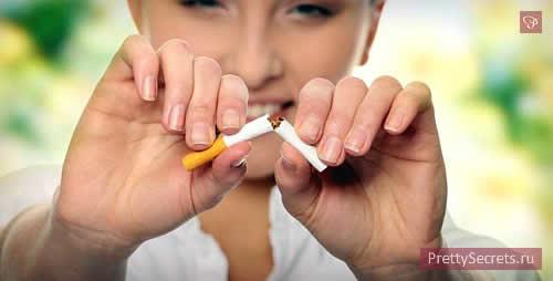 Сигарета враг красоте
