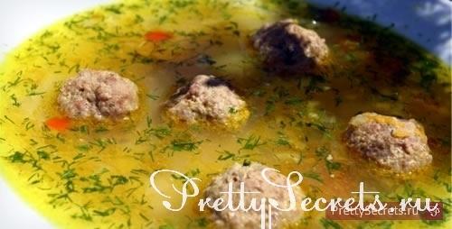 Вкусные рецепты: суп с фрикадельками
